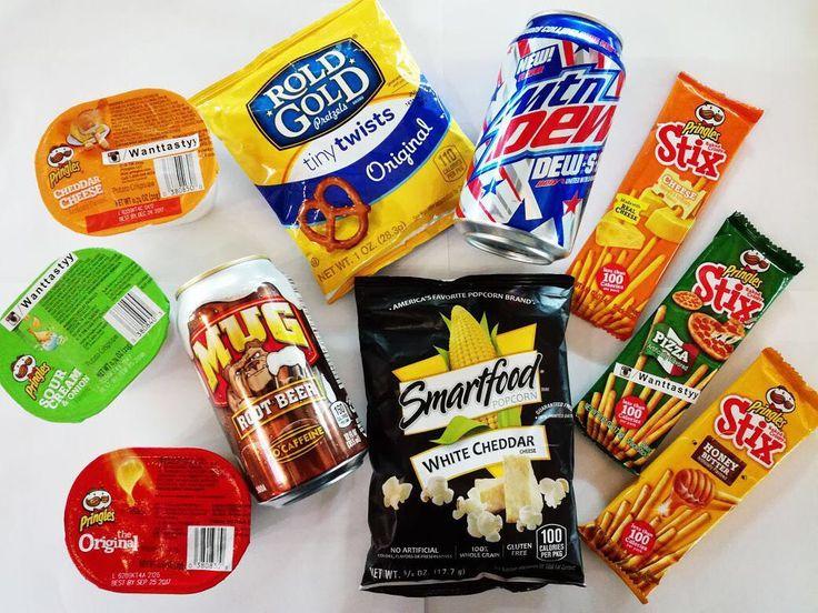 Чипсы Pringles 89p Напиток Root Beer 89p Напиток Mtn dew 89p Палочки Pringles 79p  Smartfood popcorn с сыром 89p  Rold Gold  89p #wanttasty #магазинкрутыхштук