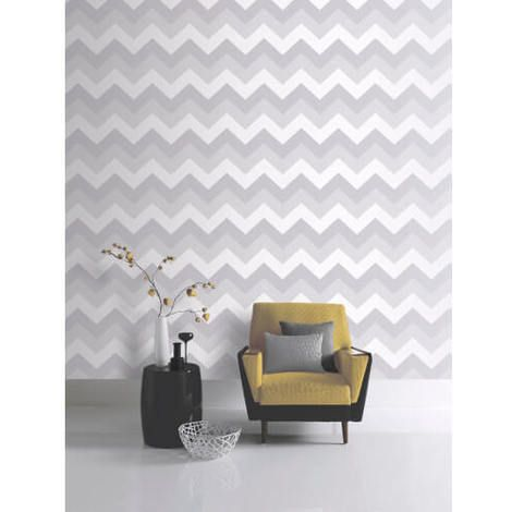 Glitterati Chevron Platinum Glitter Vinyl Wallpaper. A splash of sparkle, a glow of shimmer and a reflective shine, all glistening with Glitter. This design has elegant contemporary motifs and bold geometric patterns.Inspired by the way light illuminates space, creating a unique ambience.  This wallpaper is suitable for all living areas, including the kitchen and bathroom. Click to shop.