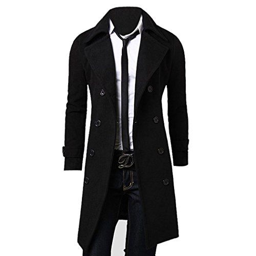 Zeagoo Herren Winter Slim Fit Langer Mantel Trenchcoat Jacke