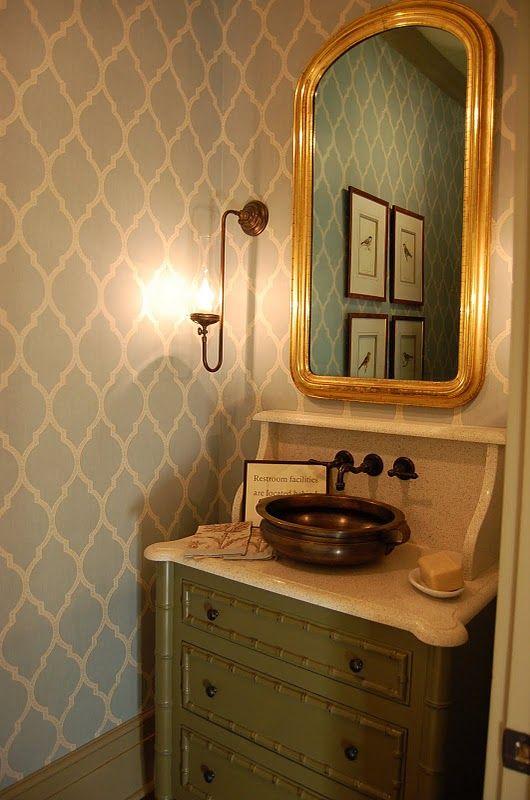 Southern Living Idea House   Senoia Georgia/prints/wallcovering Combo