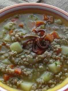 Cucina Artusiana: Minestra d'Orzo [ Sopa de Cevadinha] - Para esquentar a caixinha do corpo