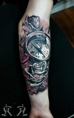 Tatuajes De Brujula Con Rosas 1 90 Tatuajes De Brújulas Para