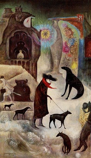 Leonora Carrington OBE (6 April 1917 – 25 May 2011) was a British-born Mexican artist, a surrealist painter and a novelist. She lived most of her life in Mexico City.