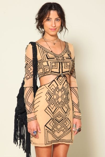 vestido tule tribal FARM