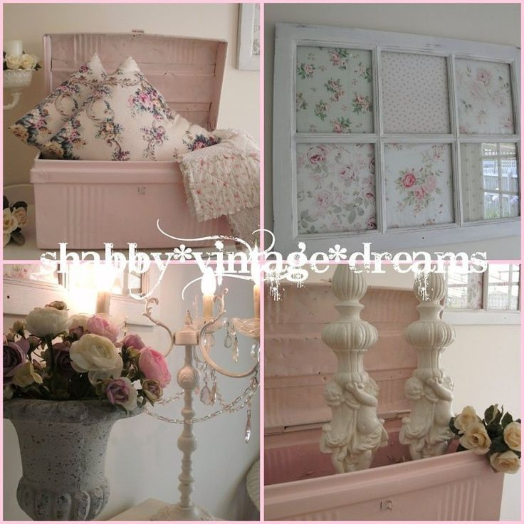 Install your headboard over the window so your curtains - Decoracion estilo shabby chic ...