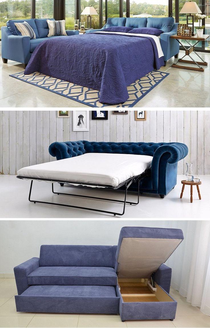 Navy Blue Sleeper Sofa