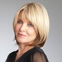 Sandy Linter, love her cut and color! She is beautiful and in her 60's!
