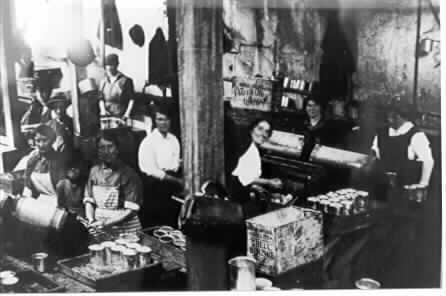 View of a busy work scene inside the Jam Factory.