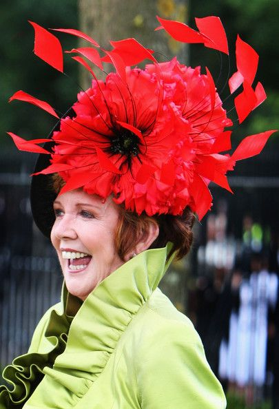 Cilla Black Cilla Black poses for a photograph as she arrives at Ladies Day a for Royal Ascot on June 19, 2008 in Ascot, England.