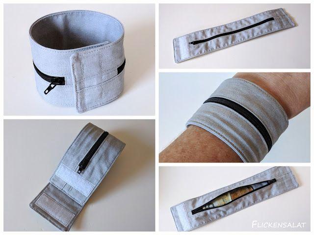 Armbandtasche #armbandtasche #tasche #bracelett-bag #sewing #nähen