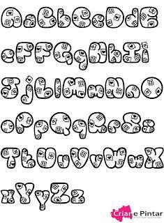 Criar e Pintar o dom que Deus me deu!: Letras muitas letras para pintar!!! pintura em tecido