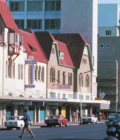Photograph:German colonists designed some of the buildings of Windhoek, Namibia…