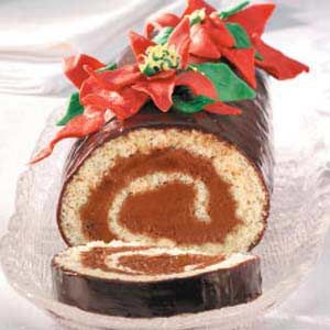 """Roll Recipe -""""This heavenly cake roll is filled with rich chocolate ..."""