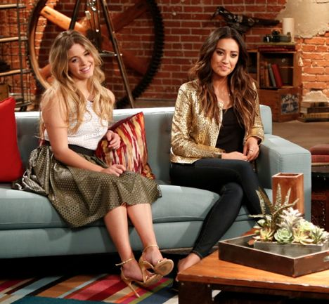 "Pretty Little Liars. Sasha Pieterse and Shay Mitchell the ""Pretty Little Liars"" episode of ""The Writers Room"". It will give us a behind the scenes look of how they write Pretty Little Liars. The episode airs Monday 2nd of June at 11PM ET/P (US time and date) Sundance Channel."