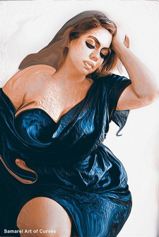 sensual art of curvy women by samarel featured on The Curvy Fashionista