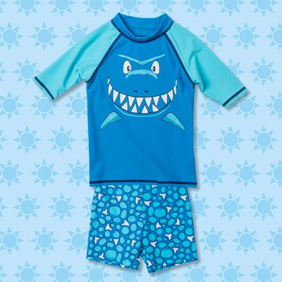Pumpkin Patch Shark Rash Set - available in sizes 1 to 6 years http://www.pumpkinpatchkids.com/