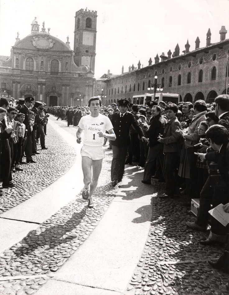 "Lord Sebastian Coe wins in Vigevano (Pavia - Italy) the ""first"" edition of Scarpa D'oro race (8km at that time, now an international Half Marathon).  http://www.scarpadoro.it/"