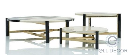 Купить Журнальные столики COFFEE TABLE TITUS 3 D. 70 x H.25 от Emanuel Ungaro ( Бельгия ) - Carducci эксклюзивная итальянсая мебель