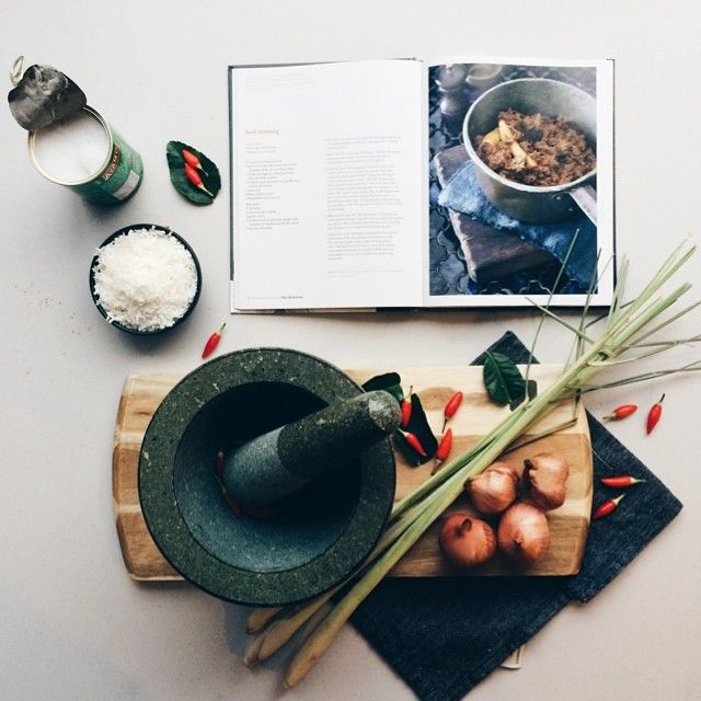 """""""#tbt to when I cooked the best beef #rendang ever (ok, my only beef rendang) from my friend's @liawadam's cookbook, so that I share my excitement that the new season of his TV show 'Destination Flavour' starts tonight at 8pm on SBS (followed by Heston Blumenthal). Any fellow Aussies suffering from Masterchef withdrawals? """" Photo taken by @brigadeirochoc on Instagram, pinned via the InstaPin iOS App! http://www.instapinapp.com (07/31/2014)"""
