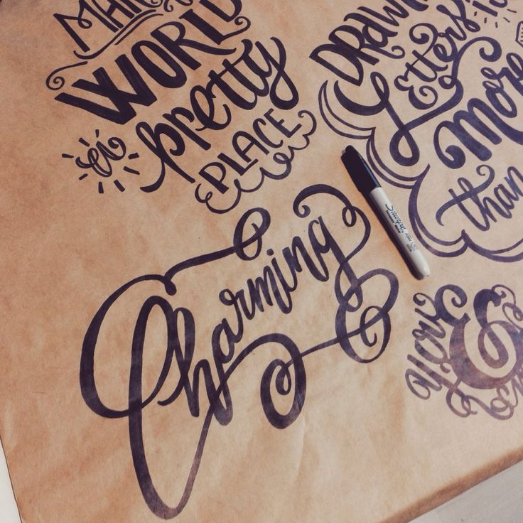 charming hand lettered maia