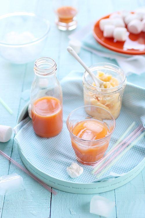 Jus de carottes, pommes et clémentines