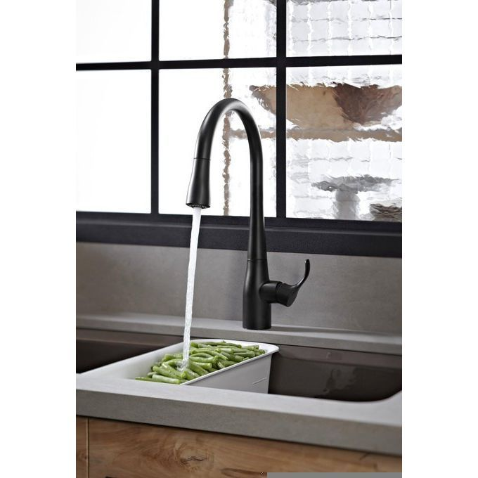 Take care of meal prep and clean up like a boss with the Kohler Simplice pullout spray kitchen faucet.