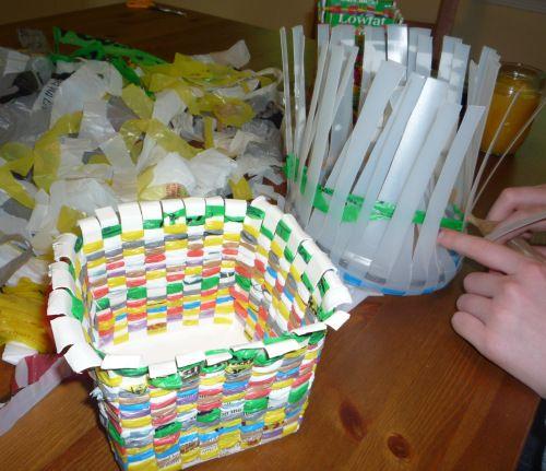 Plastic bags and milk cartons