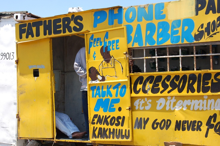 Father Barber shop, Langa Cape Town. Jan 2009.