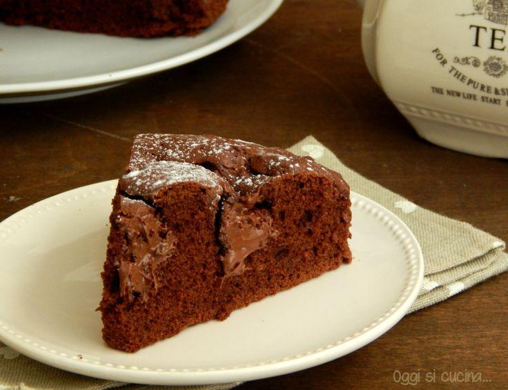 torta cuore morbido alla nutella