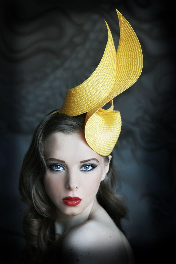 Refined Yellow Hat | Evening Hats by Anna Mikhaylova, via Behance