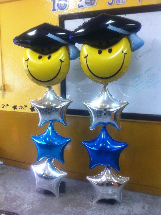 Resultado de imagen para decoracion de graduacion con for Balloon decoration graduation