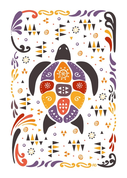 Native Art Print by Anna Deegan | Society6