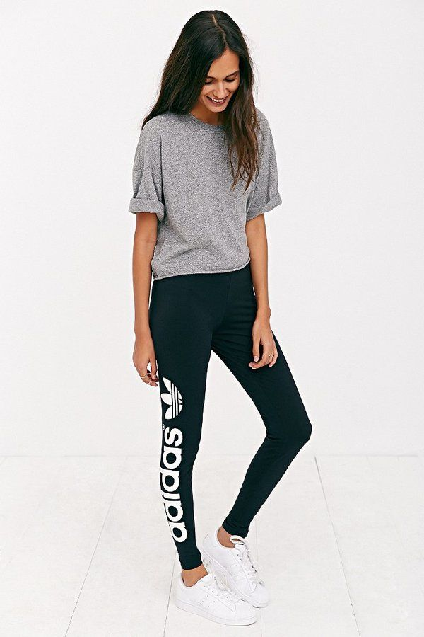 Adidas Originals Trefoil Legging | Personal Style | Pinterest | Athletic wear Love this and Bold