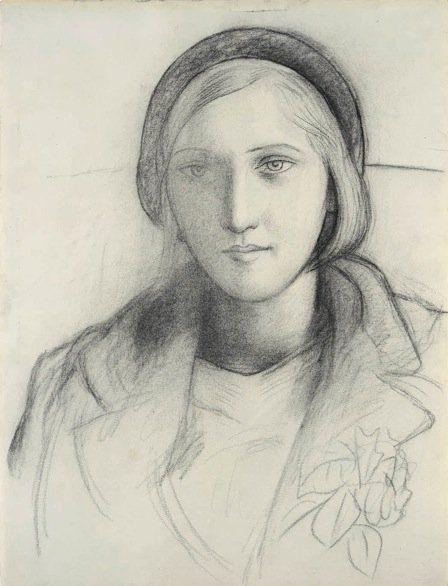 Marie-Thérèse Coiffee d'un Beret by raeburn10025 on Flickr.     Pablo Picasso  Marie-Thérèse Coiffee d'un Beret (1927)  Charcoal on paper