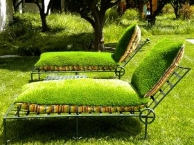 Seats: Gardens Seats, Lounges Chairs, In Love, Artificial Turf, Cushions, Inside Outside, Cool Ideas, Firm Plants, Lawn Chairs