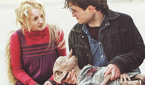 "Dobby's first and last words in the books were ""Harry Potter""Harry Potter Facts Luna, Book, Dobby Boys"