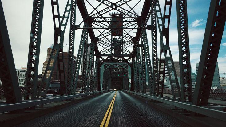 1366x768 Wallpaper bridge, construction, road