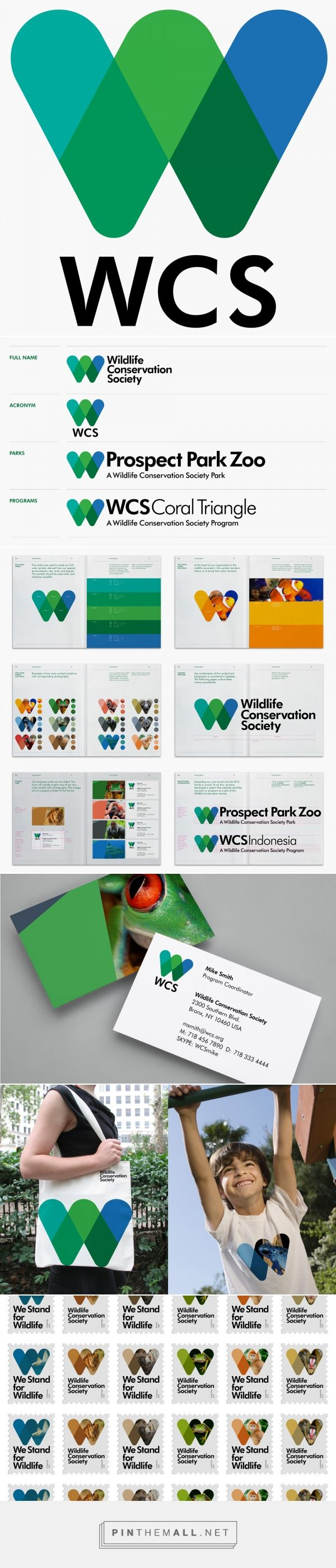 Brand New: New Logo and Identity for Wildlife Conservation Society by Pentagram - created via http://pinthemall.net