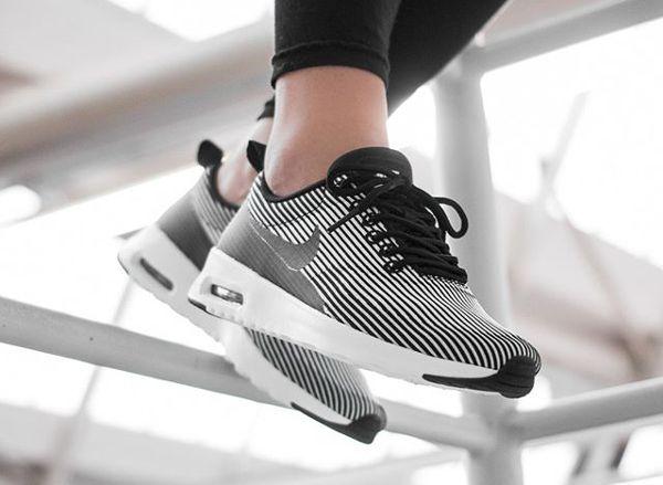 Nike Air Max Thea KJCRD 'Pinstripe' Black/White post image