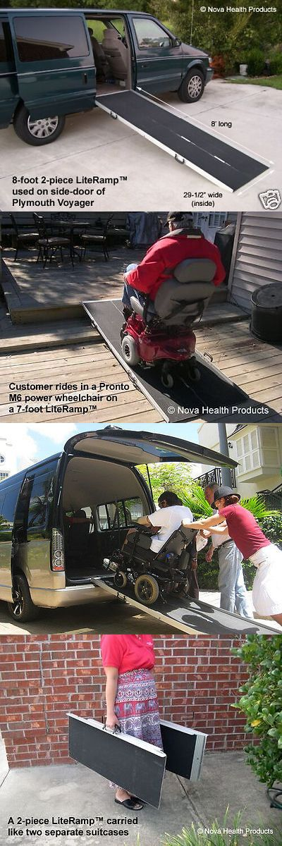 Access Ramps: 8 Wheelchair Ramp | Scooter Ramp | Literamp Portable Handicap Ramps BUY IT NOW ONLY: $279.0