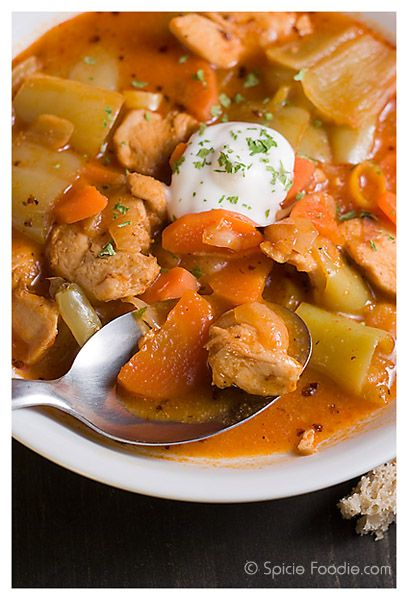 Goulashesque Chicken Stew - looks like an awesome recipe with chicken, carrots, potatoes, garlic and herbs