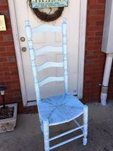 Ruth Livingston Guertin Gave This Chair A Makeover By Applying Haint Bluze  With Some Sapphire Blue