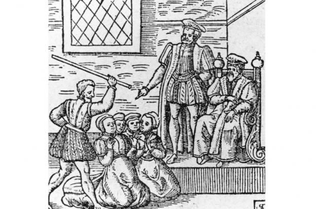 A brief history of witches by Suzannah Lipscomb----c1610, a group of supposed witches being beaten in front of King James I (King James VI of Scotland). (Photo by Hulton Archive/Getty Images)