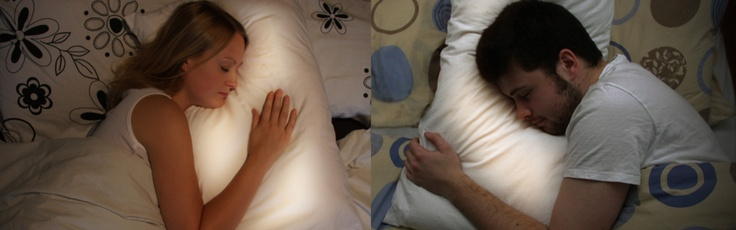 @Hannah Edmiston The Long Distance Pillow: the pillow lights up when your mate lays down. <3