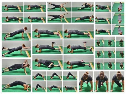 20 Plank Exercise Variations - Moves For A Plank Workout - YouTube