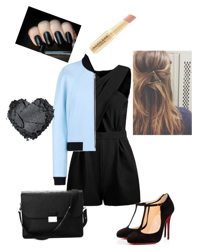 """""""Night out"""" by fashion-girl-katrina on Polyvore featuring Balenciaga, Christian Louboutin, Aspinal of London, Napoleon Perdis, women's clothing, women, female, woman, misses and juniors"""