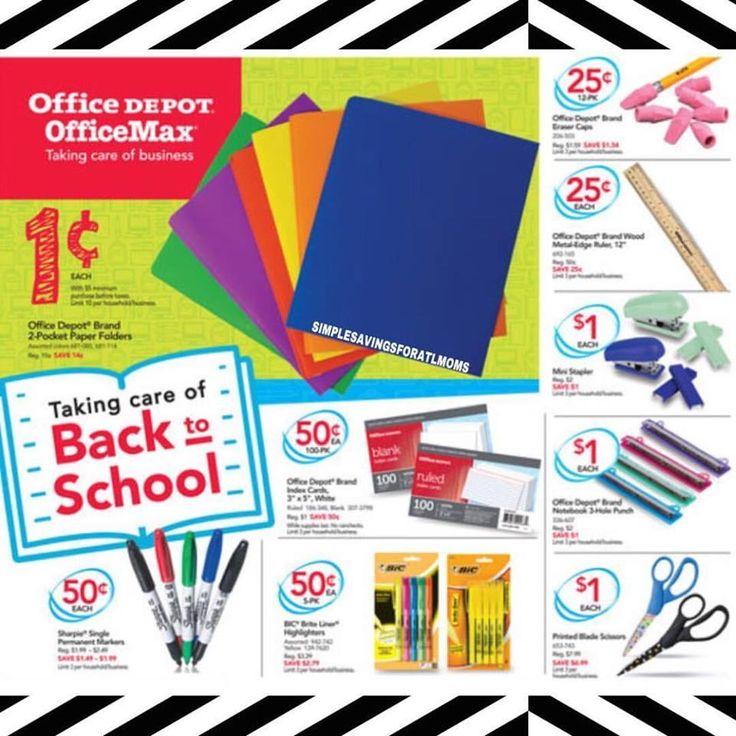 Office Depot / Office Max Back to School Deals 7.9 - 7.15 http://simplesavingsforatlmoms.net/2017/07/office-depot-office-max-back-to-school-deals-7-9-7-15.html