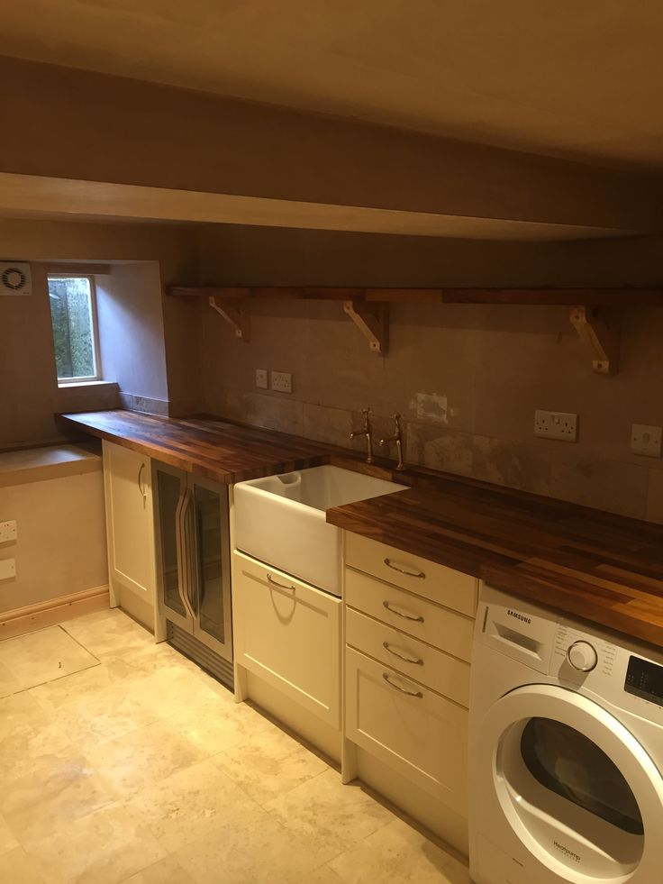Conversion of a damp basement into a utility room and storage space in rural Oxfordshire