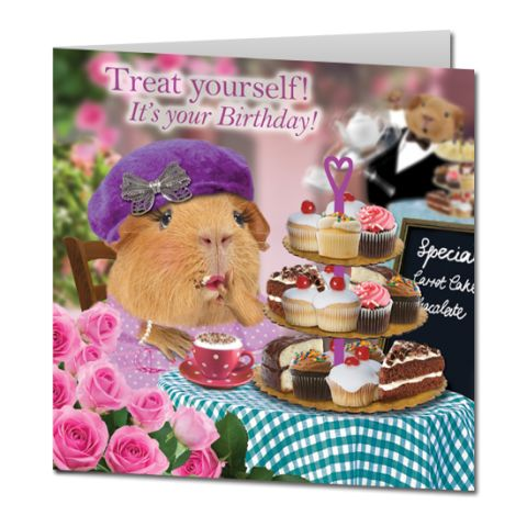Kartka urodzinowa Tea & Cake