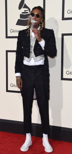 LA Grammy Awards 2016 - Red Carpet fashion style swag extravaganza - Wi Khalifa
